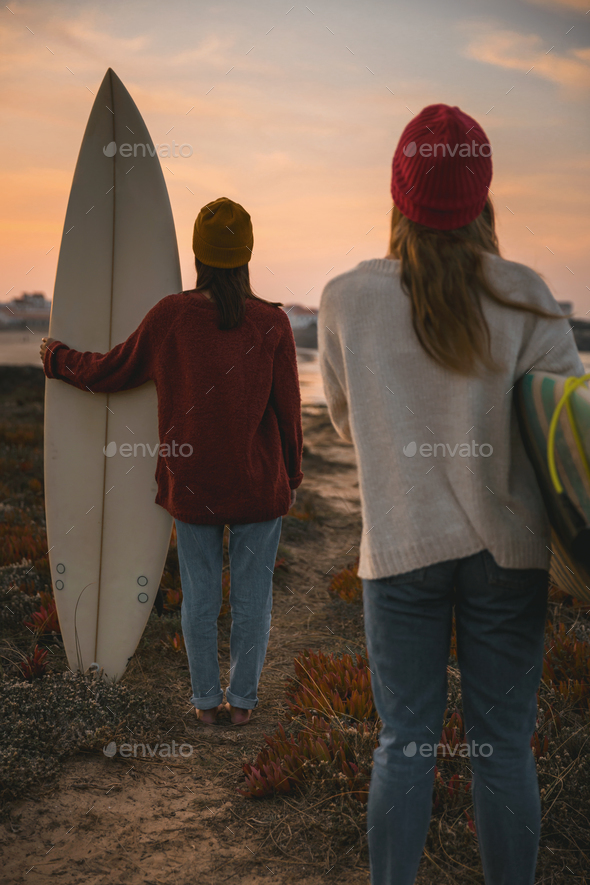 Surfer girls - Stock Photo - Images