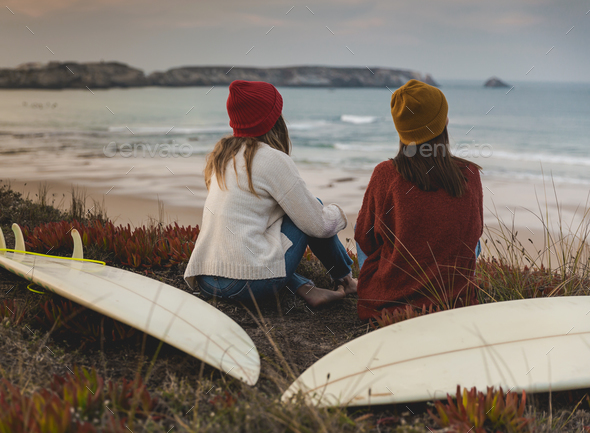 Waiting for waves - Stock Photo - Images
