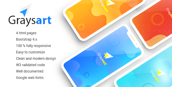 Graysart - Multipurpose Responsive App Landing Page - Landing Pages Marketing
