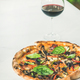 Freshly baked vegetarian pizza and glass of wine - PhotoDune Item for Sale