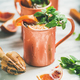 Blood orange Moscow mule alcohol cocktails, square crop - PhotoDune Item for Sale