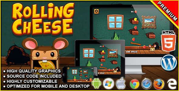 Rolling Cheese - HTML5 Physics Game            Nulled
