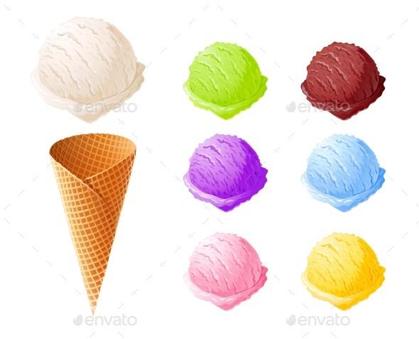 Ice Cream Set - Food Objects