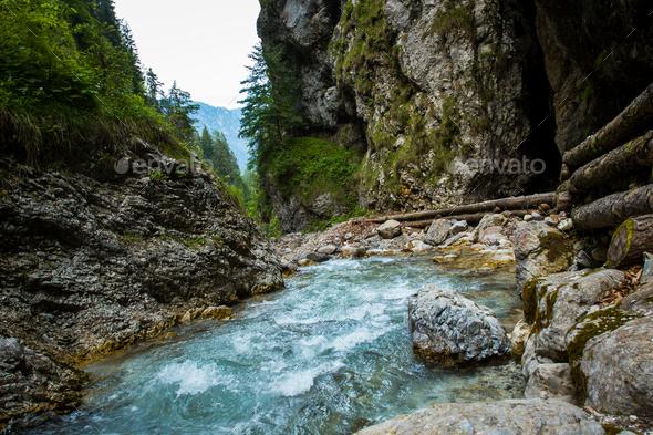 Martuljek river in Slovenia - Stock Photo - Images