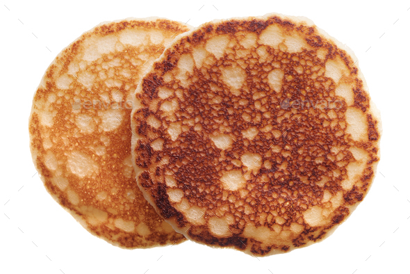 Pair of pancakes - Stock Photo - Images