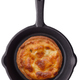 Round toast with grilled cheese on a frying pan - PhotoDune Item for Sale