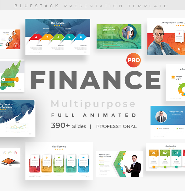 Finance Fully Animated Pitch Deck Keynote Template by bluestack ...
