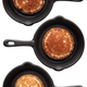 Set of three various pancakes on a frying pan - PhotoDune Item for Sale