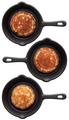 Set of three various pancakes on a frying pan - PhotoDune Item for Sale