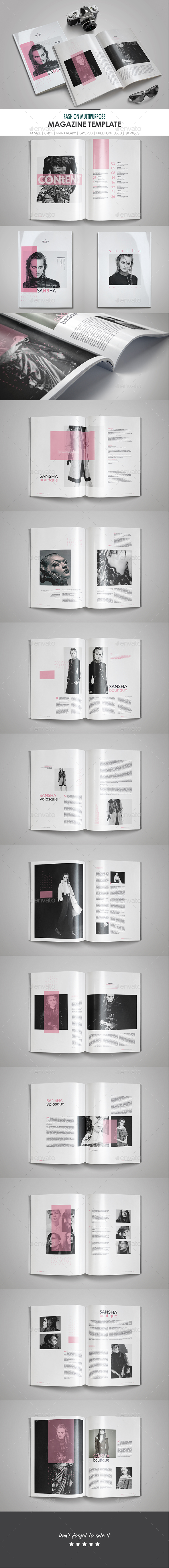 Fashion Multipurpose Magazine Template - Magazines Print Templates
