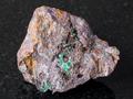 Cuprite and Malachite in Limonite stone on dark - PhotoDune Item for Sale