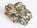 green beryl crystals in druse on white - PhotoDune Item for Sale