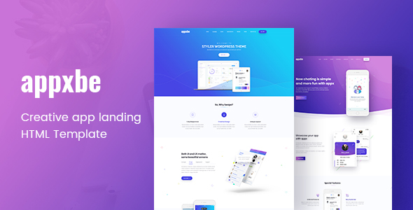 Appxbe - App Landing HTML Template - Technology Site Templates