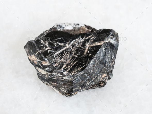 raw Hematite crystal on white - Stock Photo - Images