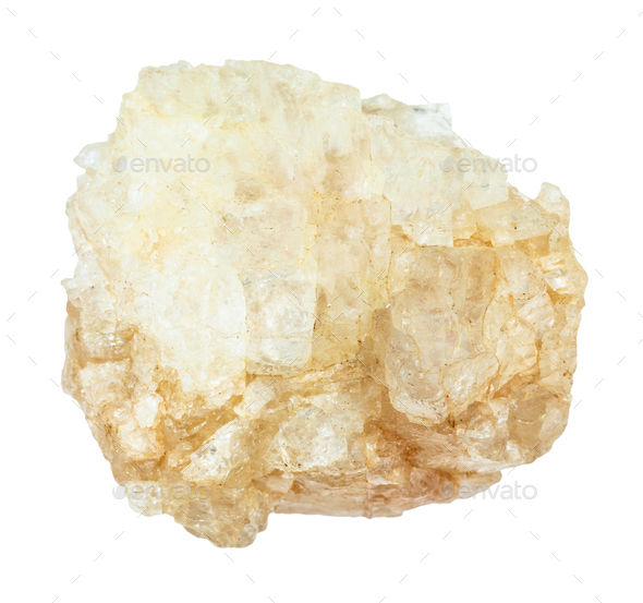 rough Topaz gemstone isolated on white - Stock Photo - Images