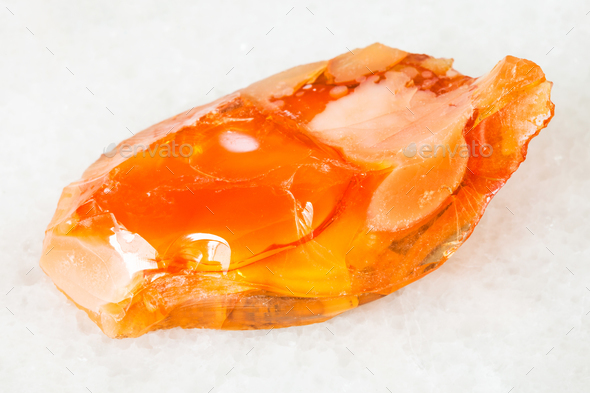 rough noble opal and fire opal gem stone on white - Stock Photo - Images
