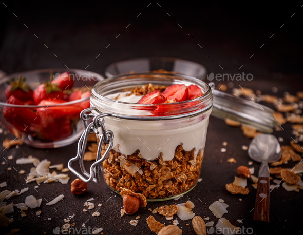 Homemade granola - Stock Photo - Images