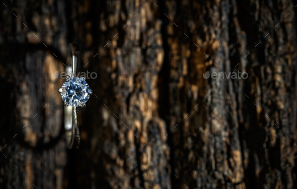 Ring with crystal - Stock Photo - Images