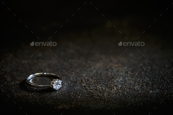 Ring with a polished gemstone - Stock Photo - Images