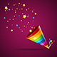 Party Hat and Confetti Background Card - GraphicRiver Item for Sale