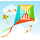 Realistic Detailed Kite Sale Concept Card - GraphicRiver Item for Sale