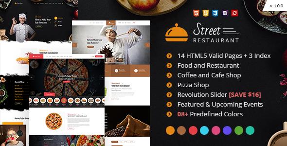 Street - Restaurant HTML Template - Restaurants & Cafes Entertainment