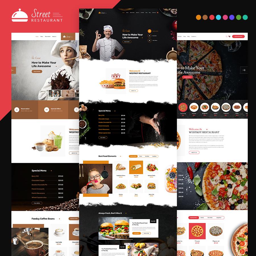 Street - Restaurant HTML Template - 1