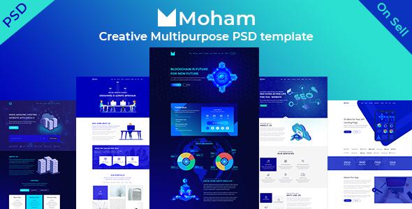 Moham - Creative Multipurpose PSD Templates - Creative PSD Templates