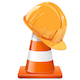 Vector Construction Cone with Helmet - GraphicRiver Item for Sale