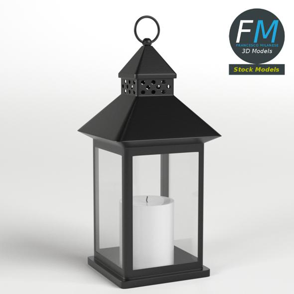 Lantern with Candle 1 - 3DOcean Item for Sale