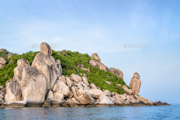 Buddha Point at cape in Ko Tao island - Stock Photo - Images