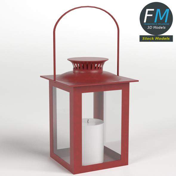 Lantern with Candle 3 - 3DOcean Item for Sale