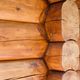 Details of cabin corner joint with round off logs. Canadian or scandinavian style. - PhotoDune Item for Sale