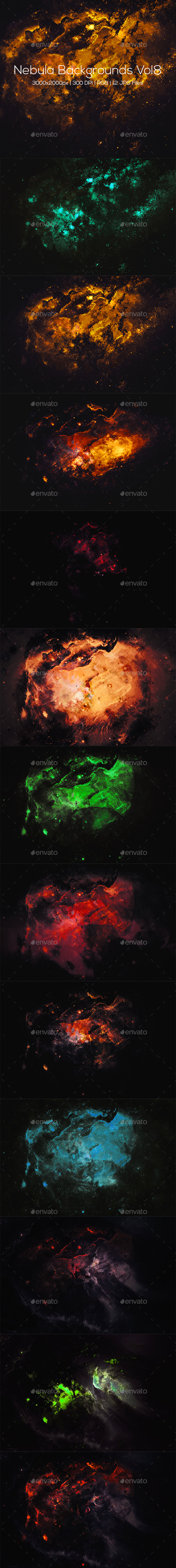 Nebula Backgrounds Vol8 - Abstract Backgrounds