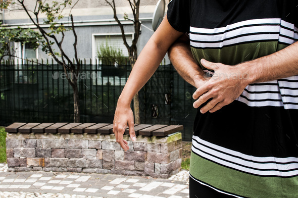 step for the heimlich maneuver procedure - Stock Photo - Images