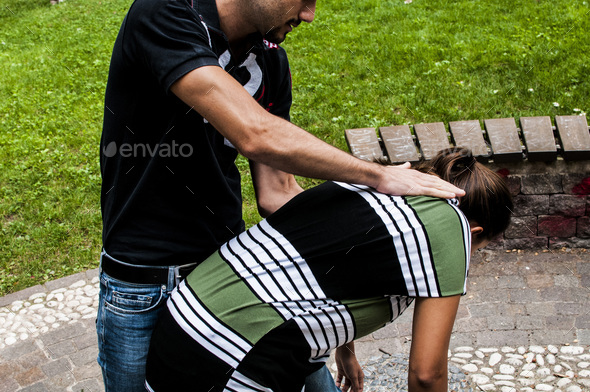 heimlich maneuver procedure  - Stock Photo - Images