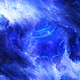 Travel Through Abstract Blue Space Nebula to Bright Energy Waves - VideoHive Item for Sale