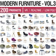 Modern Furniture Vol 3 - 200 Products