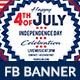 4th of July Facebook Ad Banner Design - 4 Design - GraphicRiver Item for Sale