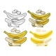 Whole and Half Peeled Banana - GraphicRiver Item for Sale