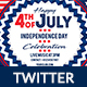 4th of July Twitter Header - GraphicRiver Item for Sale