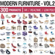 Modern Furniture Vol 2 - 300 Products