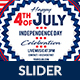 4th of July Web Slider - GraphicRiver Item for Sale
