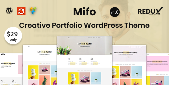 Image of Mifo - Creative Minimal Portfolio WordPress Theme