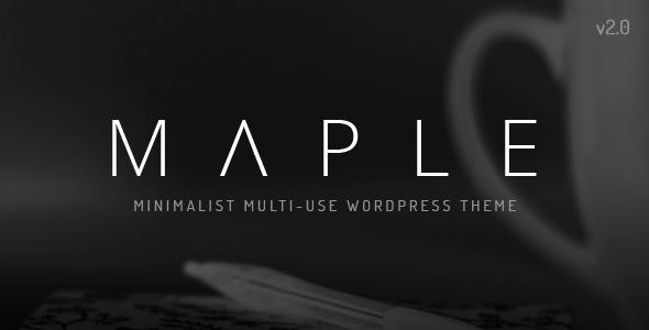 Image of Maple | Clean Minimal Multi-Purpose WordPress Theme