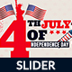 4th of July Web Slider - 3 Design- Image Included