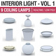 Interior Light Vol 1 - 9 Ceiling Lamps - 3DOcean Item for Sale