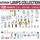 Interior Light Collection - 160 Products - 3DOcean Item for Sale