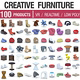 Designer Furniture Collection - 100 Products