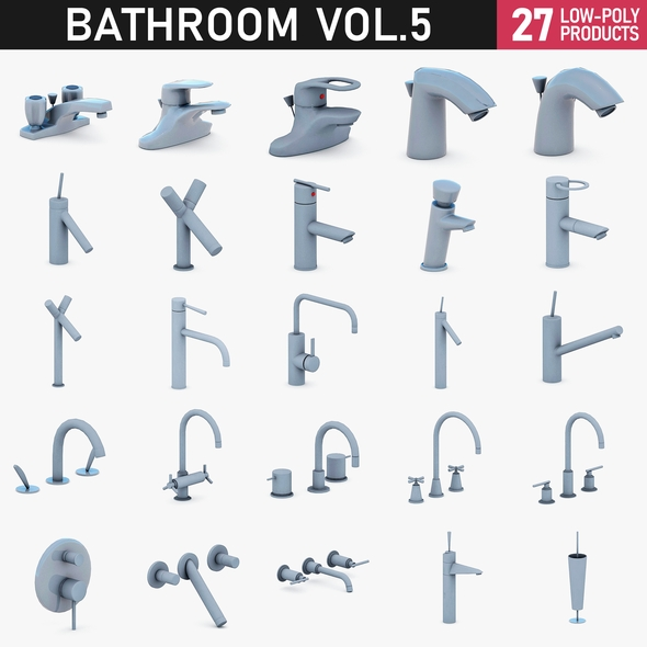 Bathroom Vol 5 - Water Taps - 3DOcean Item for Sale